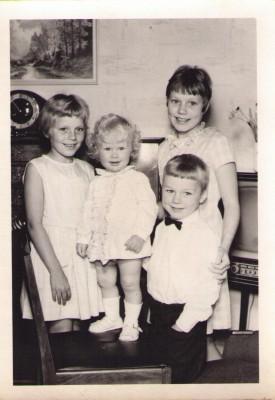 Kirsten, Vivi, Susanne og Erling 1966